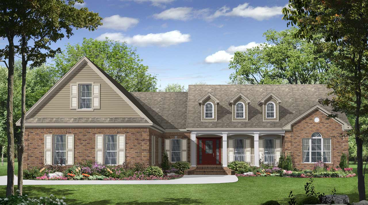 Southern Style Home Design Plan: 2-204
