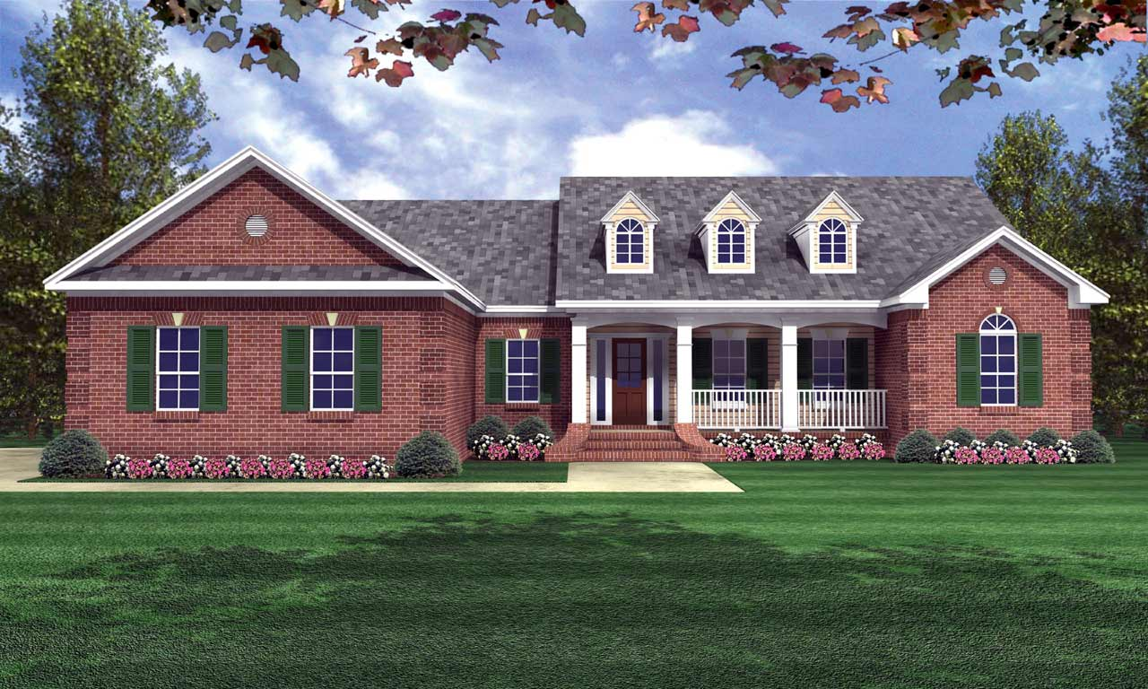 Southern Style Floor Plans Plan: 2-205