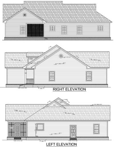 Rear Elevation Plan: 2-208