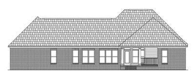 Rear Elevation Plan: 2-209