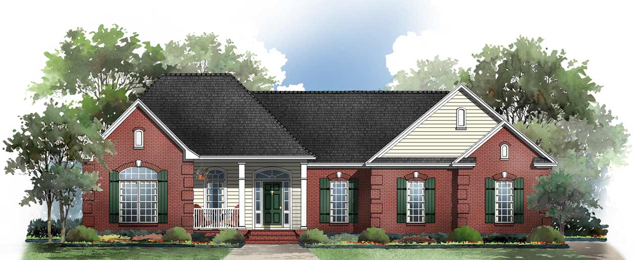 Traditional Style Home Design Plan: 2-210