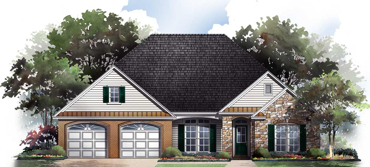 Traditional Style Home Design Plan: 2-211