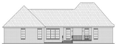 Rear Elevation Plan: 2-212