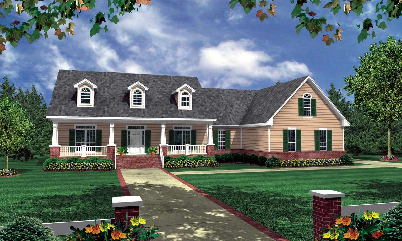 Southern Style Floor Plans Plan: 2-213