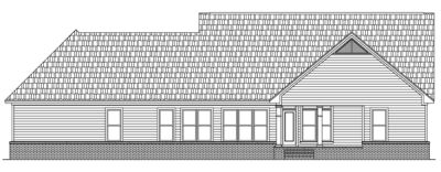 Rear Elevation Plan: 2-213
