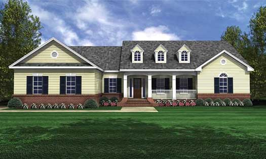 Southern Style Floor Plans Plan: 2-214