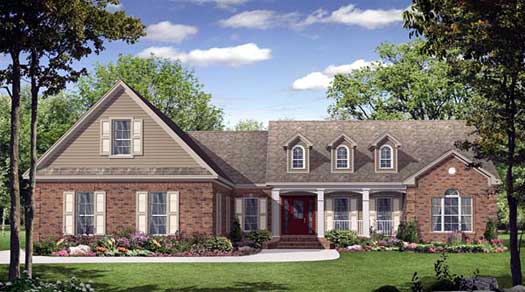 Southern Style Home Design Plan: 2-215
