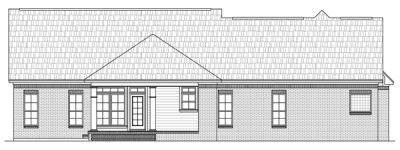 Rear Elevation Plan: 2-216