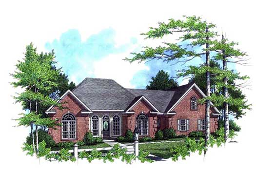 European Style Home Design Plan: 2-217