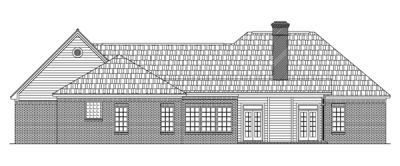 Rear Elevation Plan: 2-217