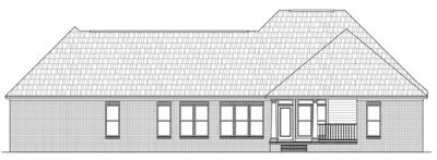 Rear Elevation Plan: 2-218