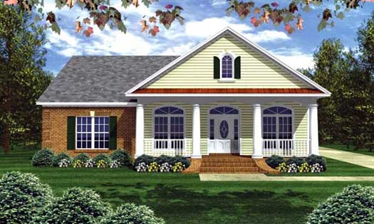 Southern Style Home Design Plan: 2-219