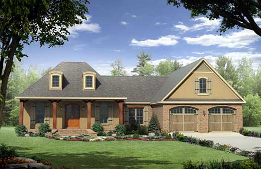 European Style House Plans Plan: 2-220