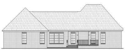 Rear Elevation Plan: 2-220