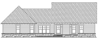 Rear Elevation Plan: 2-221