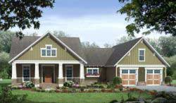 Craftsman Style House Plans 2-221