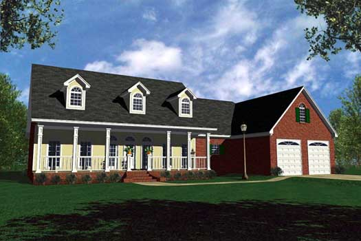 Southern Style Floor Plans Plan: 2-222