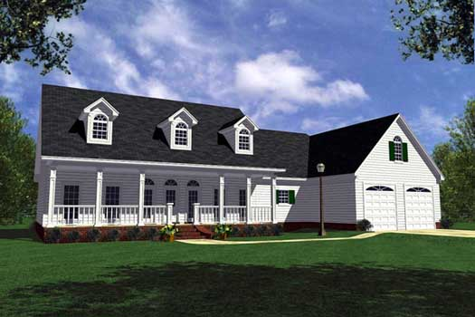 Southern Style Home Design Plan: 2-223