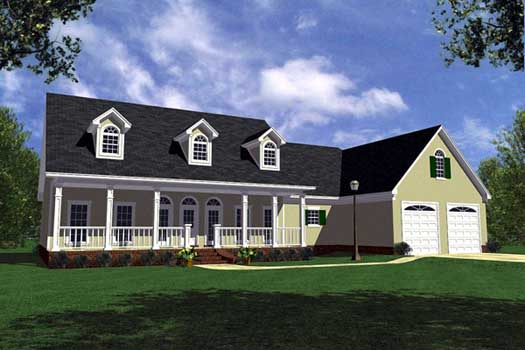 Southern Style House Plans Plan: 2-224