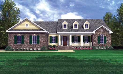 Southern Style Floor Plans Plan: 2-225