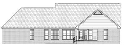 Rear Elevation Plan: 2-232