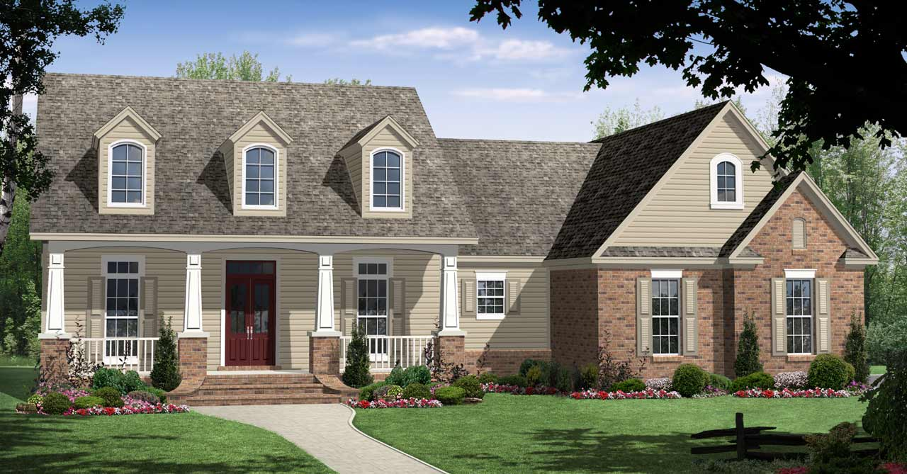 Country Style Floor Plans Plan: 2-233
