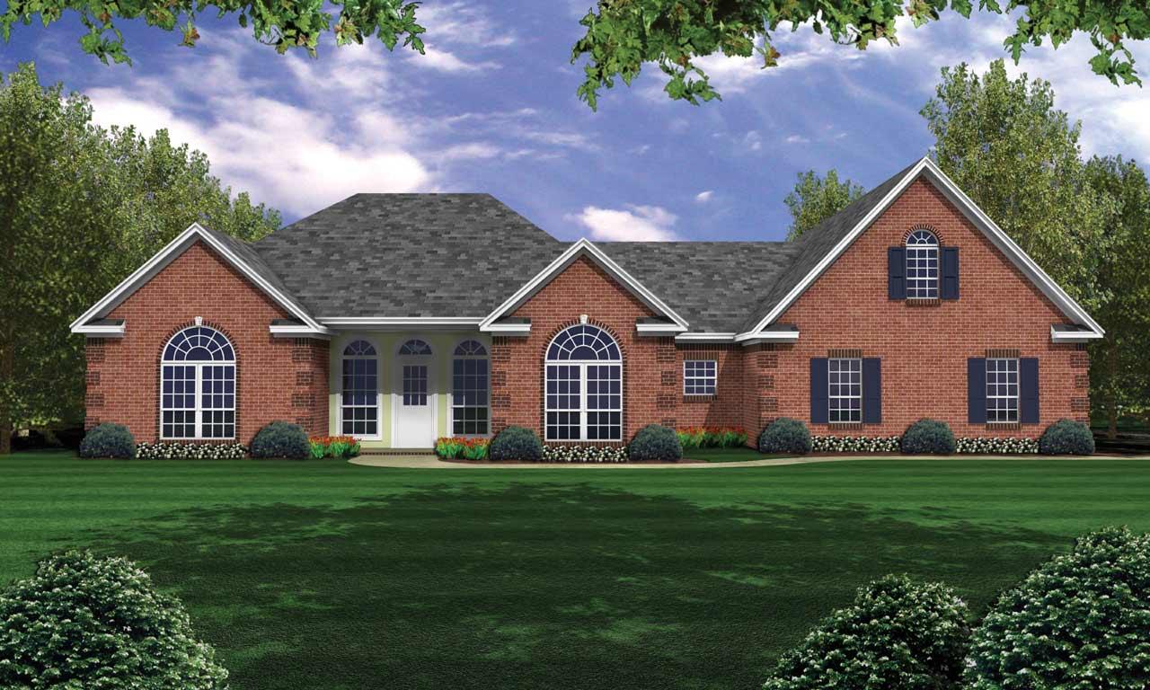 European Style House Plans Plan: 2-234