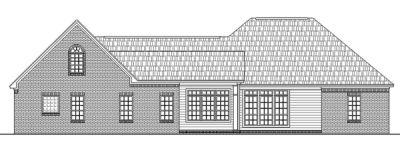 Rear Elevation Plan: 2-234