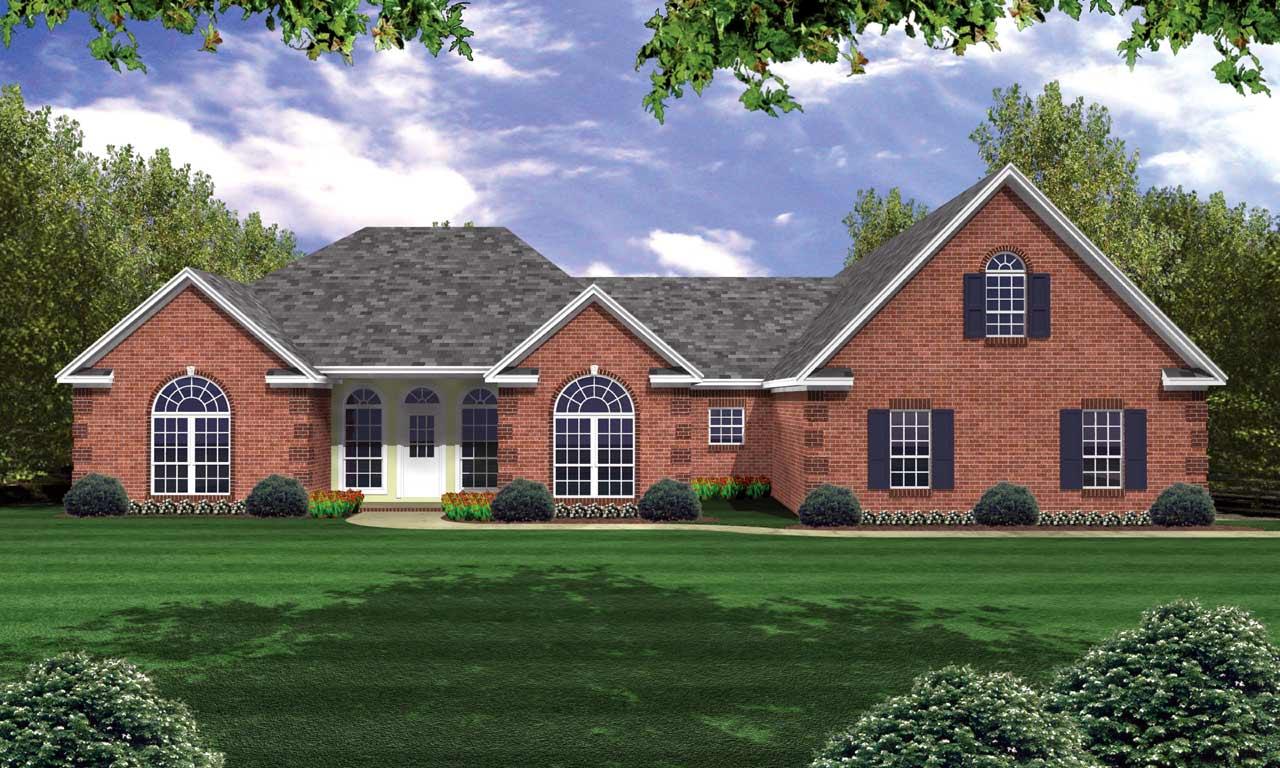 European Style House Plans Plan: 2-235