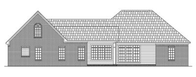 Rear Elevation Plan: 2-235