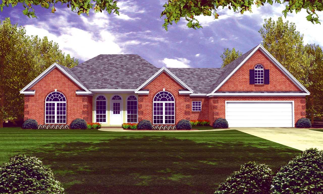 European Style House Plans Plan: 2-236