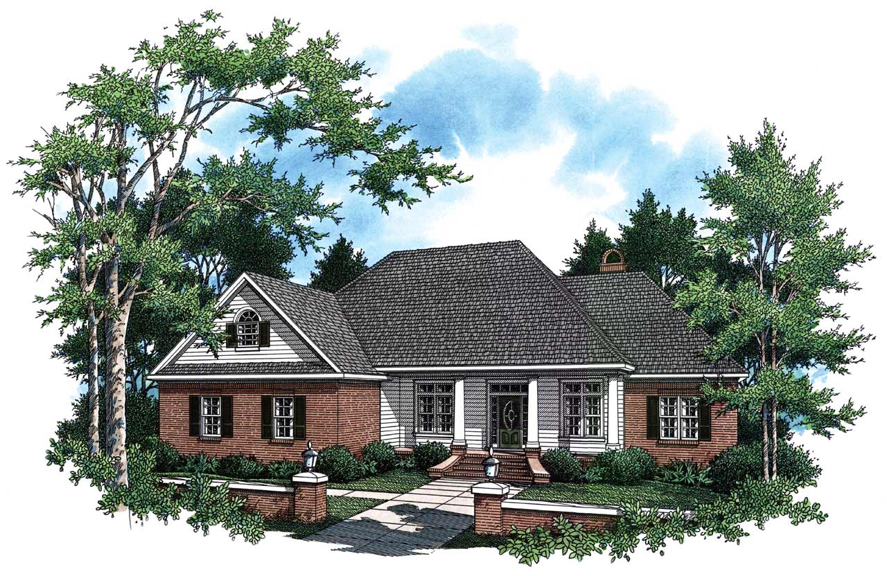 Country Style Home Design Plan: 2-237
