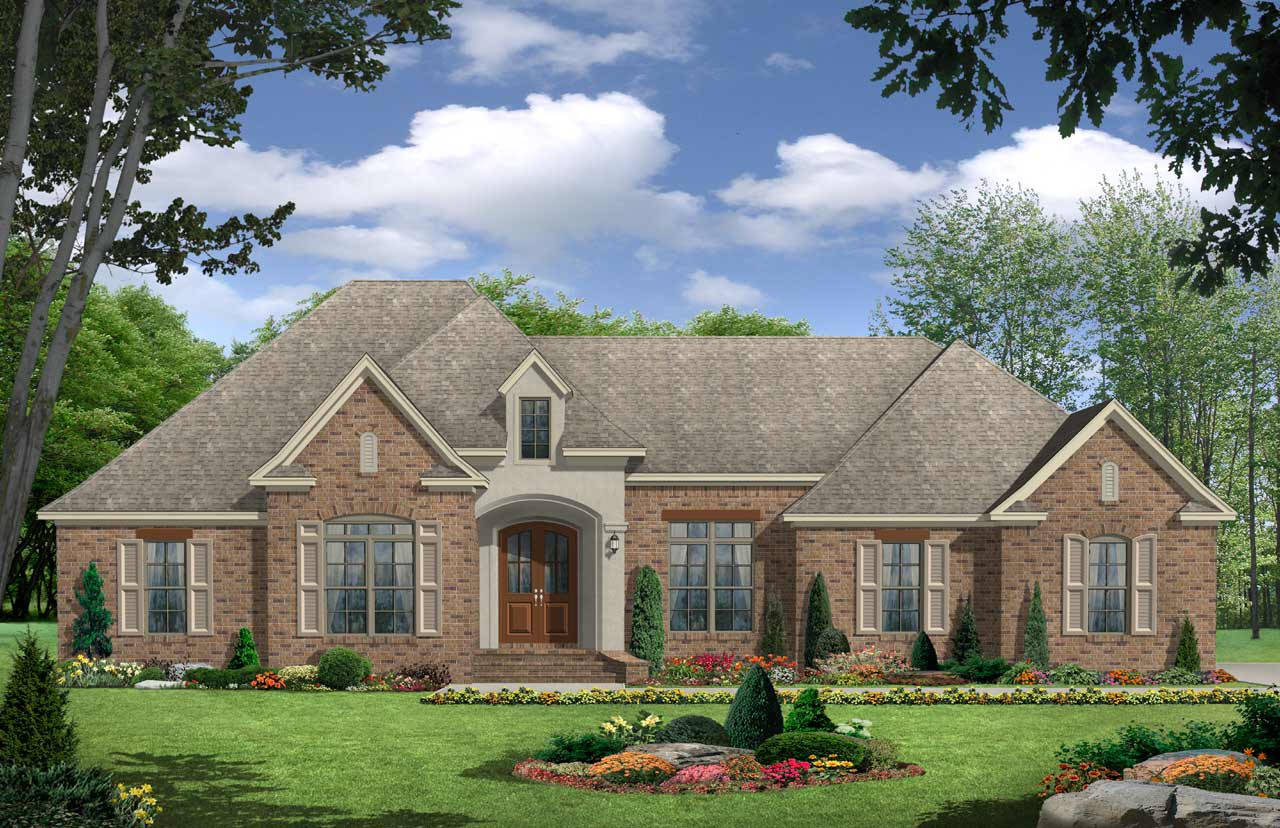 European Style House Plans Plan: 2-238