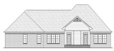 Rear Elevation Plan: 2-238