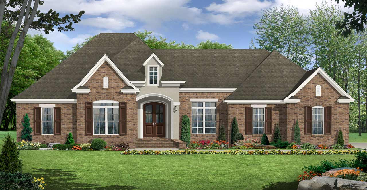 European Style Home Design Plan: 2-239