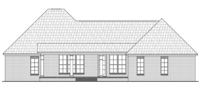 Rear Elevation Plan: 2-241
