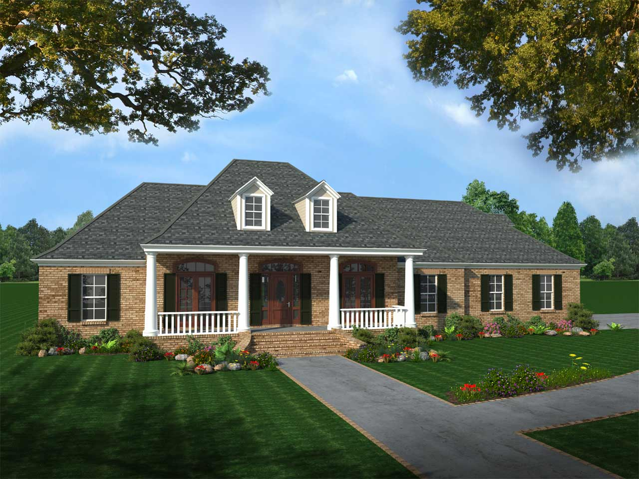 Southern Style House Plans Plan: 2-244
