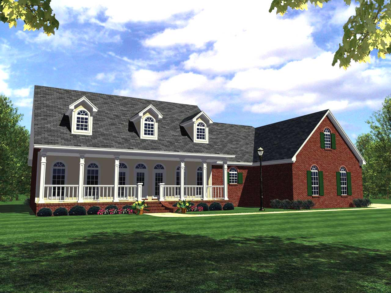 Southern Style House Plans Plan: 2-245