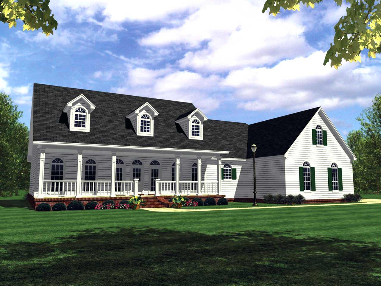 Southern Style Floor Plans Plan: 2-246