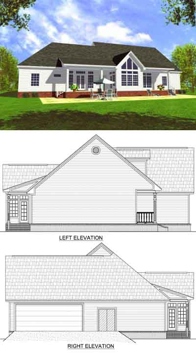 Rear Elevation Plan: 2-246