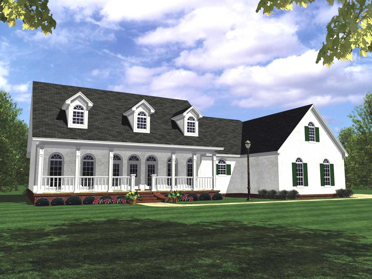 Southern Style Floor Plans Plan: 2-247
