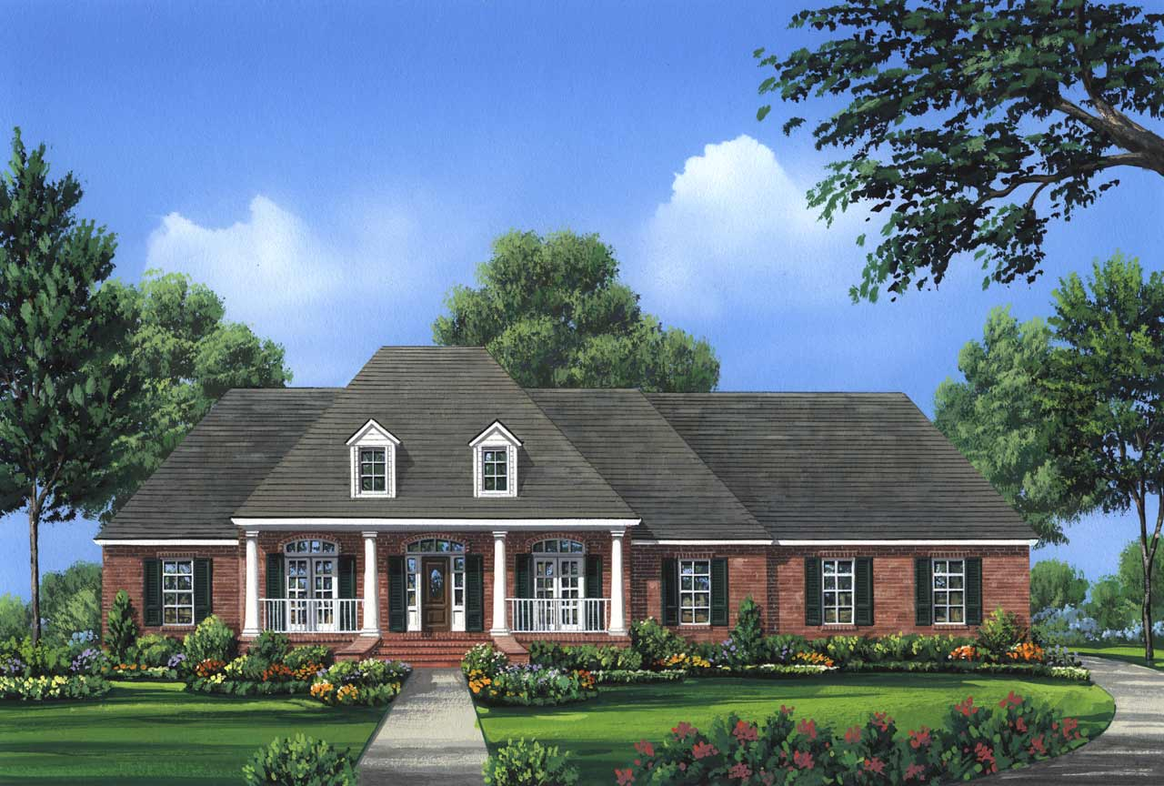 Southern Style Floor Plans Plan: 2-249