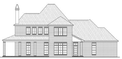 Rear Elevation Plan: 2-250