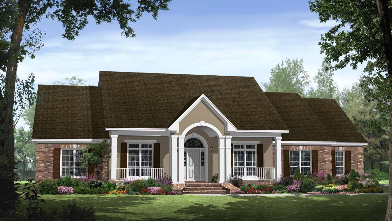 Southern Style Floor Plans Plan: 2-251
