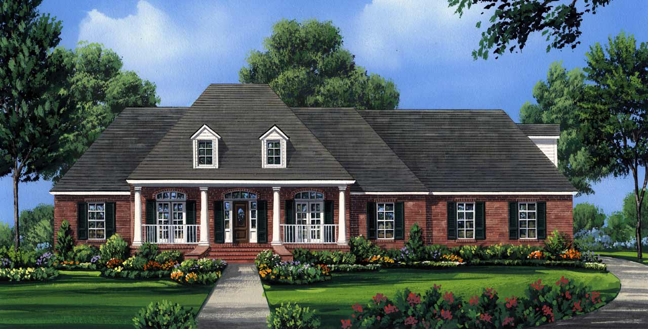 Southern Style Home Design Plan: 2-253