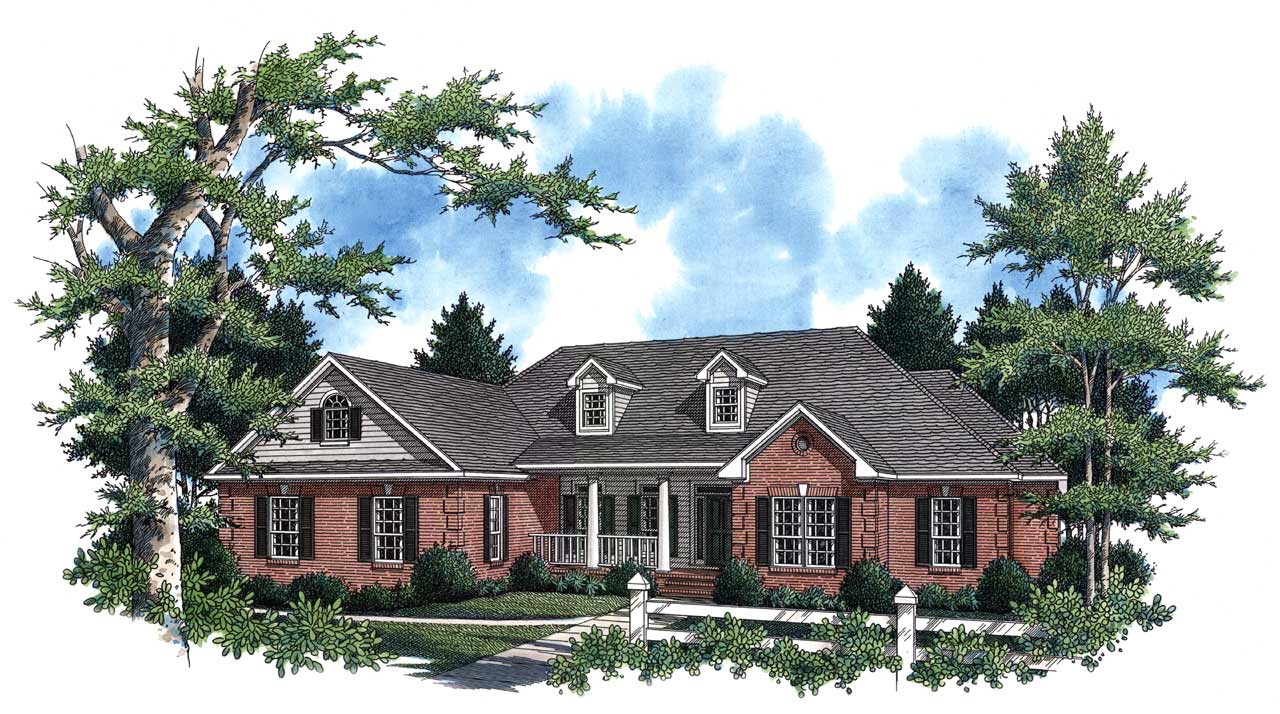 Country Style Floor Plans Plan: 2-254