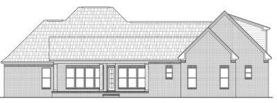 Rear Elevation Plan: 2-255