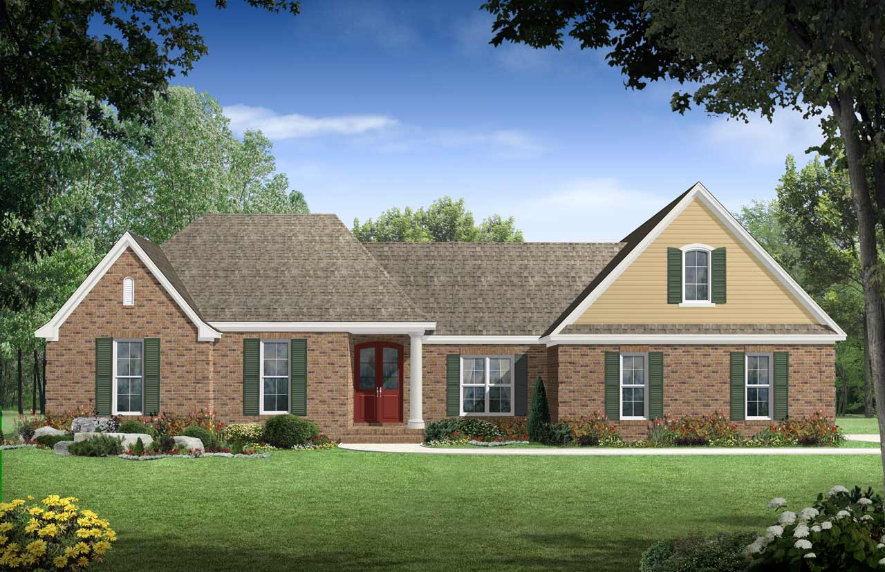 Southern Style Home Design Plan: 2-256