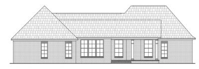 Rear Elevation Plan: 2-256