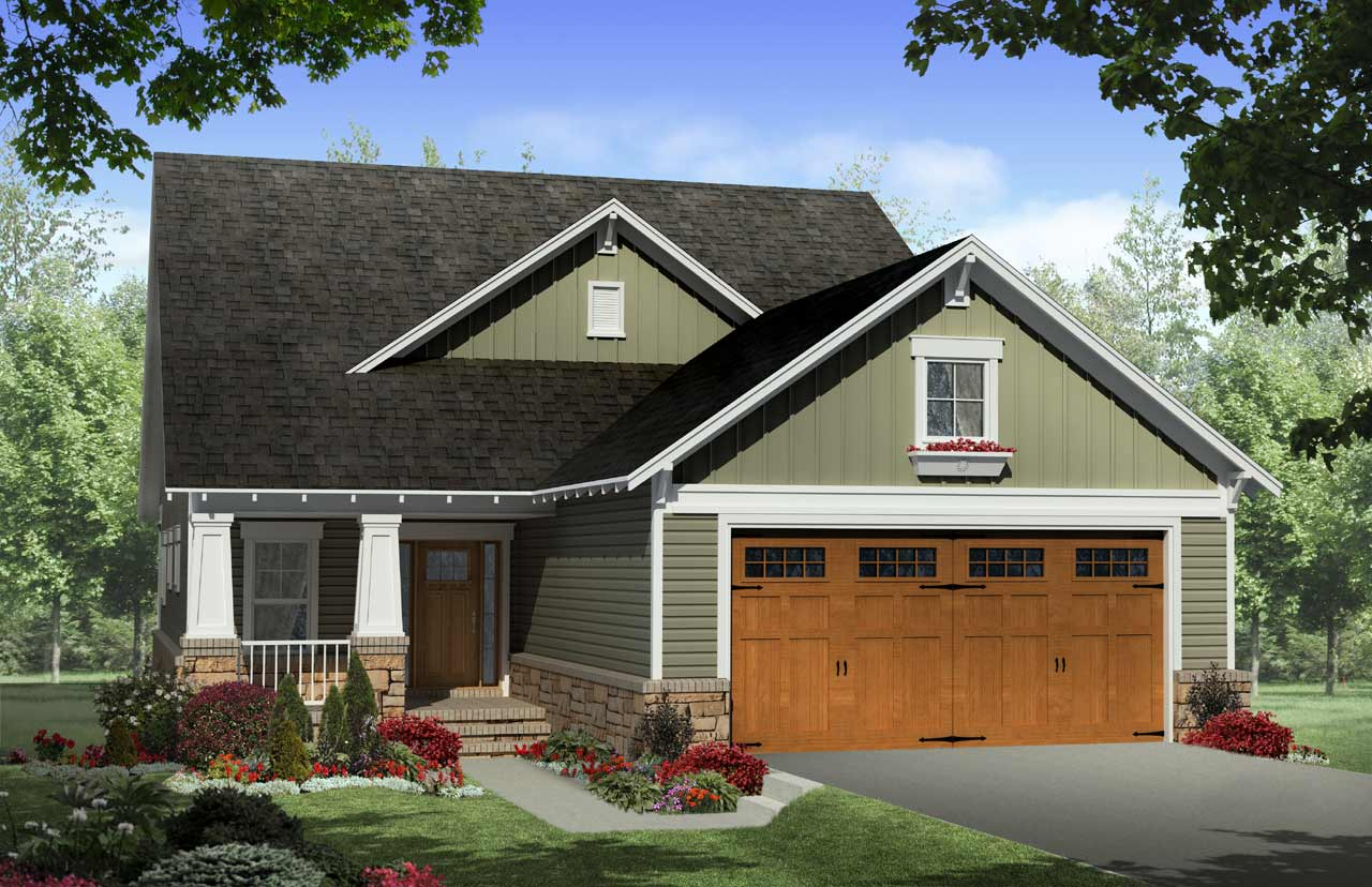 Craftsman Style House Plans Plan: 2-259